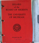 Board of Regents  University of Michigan  Bylaws