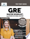 GRE Master Wordlist  1535 Words for Verbal Mastery