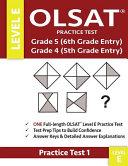 Olsat Practice Test Grade 5 6th Grade Entry Grade 4 5th Grade Entry Level E Test 1