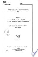 National Small Business Week  1965
