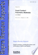 Food Contact Polymeric Materials Book