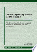 Applied Engineering Materials And Mechanics Ii Book PDF