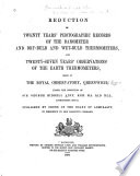 Reduction of Greenwich Meteorological Observations...