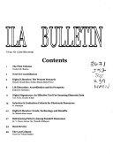 ILA Bulletin