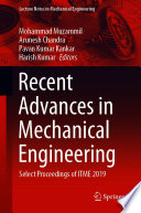 Recent Advances in Mechanical Engineering