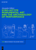 Pdf Syro-Hittite Monumental Art and the Archaeology of Performance Telecharger