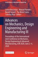Advances on Mechanics  Design Engineering and Manufacturing III