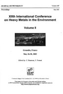 XIIth International Conference on Heavy Metals in the Environment