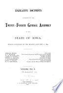 Legislative Documents Submitted to the     General Assembly of the State of Iowa Book PDF