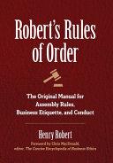 Robert S Rules Of Order Book PDF