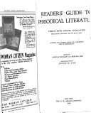 Readers  Guide to Periodical Literature Book