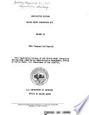 Legislative History Saline Water Conversion Act Book PDF