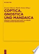 Coptica, Gnostica und Mandaica