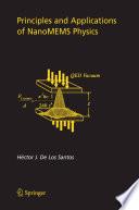 Principles And Applications Of Nanomems Physics Book PDF