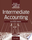 Solutions Manual V1 T/a Intermediate Accounting, 14th Edition