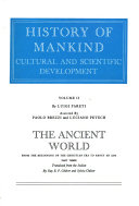 History of Mankind  The ancient world  1200 B C  to A D  500  3 v