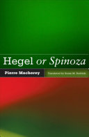 Hegel Or Spinoza