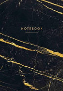 Notebook: Black Marble with Gold Veins Journal 120 Pages - B5 Size Pdf/ePub eBook