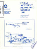 Fatal Accident Reporting System. Annual Report 1986