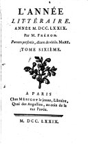 L' année littéraire ebook