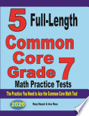5 Full Length Common Core Grade 7 Math Practice Tests