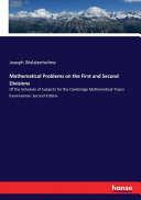 Mathematical Problems On The First And Second Divisions