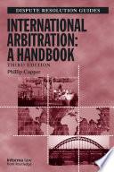 International Arbitration  A Handbook