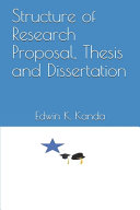 Structure of Research Proposal  Thesis and Dissertation