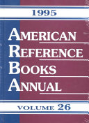 American Reference Books Annual 1995