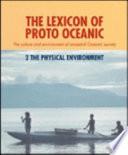 The Lexicon Of Proto Oceanic