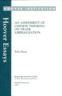 An assessment of Chinese thinking on trade liberalization