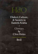 Dialect  Culture  and Society in Eastern Arabia