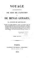 Voyage dans les provinces de Rio de Janeiro et de Minas Geraes