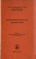 Accident record Manual for Industrial Plants