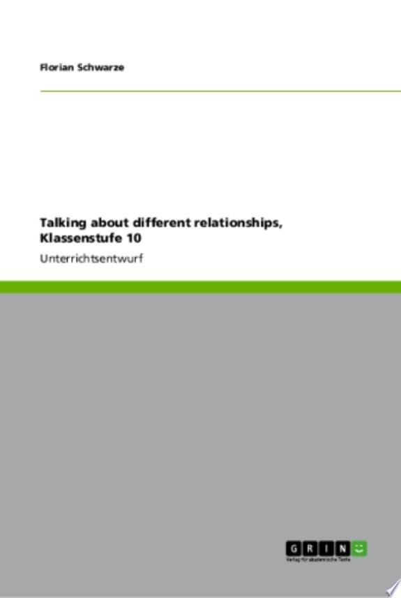 Talking about different relationships, Klassenstufe 10