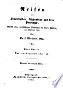 Reisen in Beludschistan, Afghanistan und dem Pendschab, während eines zwölfjährigen Aufenthalts in diesen Ländern, von 1826 bis 1838