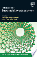 Handbook of Sustainability Assessment Book