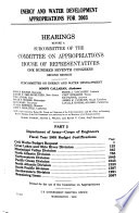 Energy and Water Development Appropriations for 2003