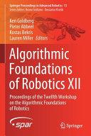 Algorithmic Foundations of Robotics XII