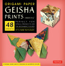 Origami Paper   Geisha Prints   Large 8 1 4   48 Sheets