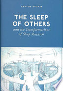 The Sleep Of Others And The Transformations Of Sleep Research