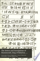 The Letters And Inscriptions Of Hammurabi King Of Babylon About B C 2200