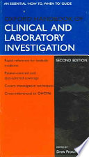 Cover of Oxford Handbook of Clinical and Laboratory Investigation