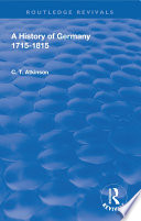 A History of Germany 1715 1815