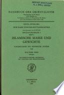 Islamische Masse und Gewichte