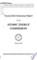 Semiannual Report of the Atomic Energy Commission Book