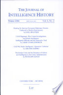 The Journal Of Intelligence History Volume 6 Number 2