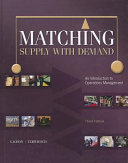 Matching Supply with Demand  An Introduction to Operations Management