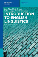 Pdf Introduction to English Linguistics