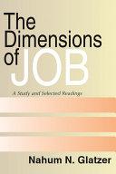 Dimensions of Job